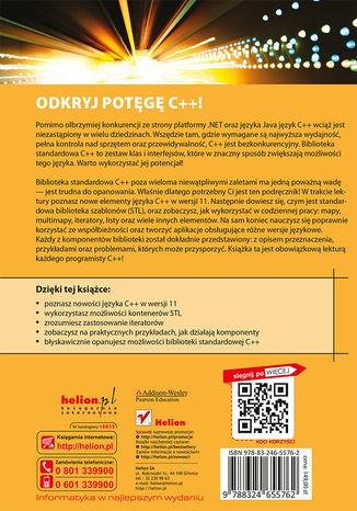 Tył okładki książki C++. Biblioteka standardowa. Podręcznik programisty. Wydanie II