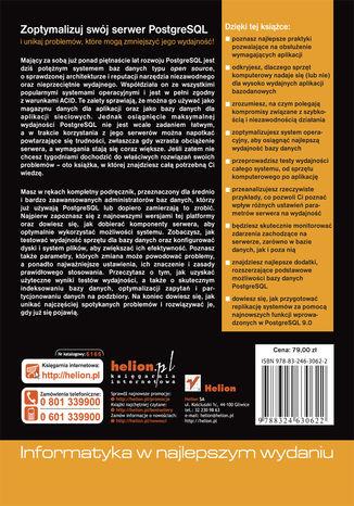 Tył okładki książki Wysoko wydajny PostgreSQL 9.0