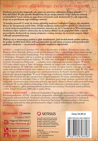 Tył okładki książki/ebooka Więcej niż Osho. Idee, nauki i przekaz kontrowersyjnego guru