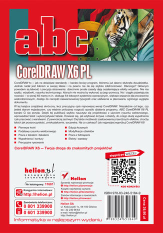 Tył okładki książki/ebooka ABC CorelDRAW X6 PL