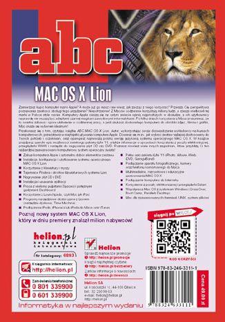 Tył okładki książki/ebooka ABC MAC OS X Lion
