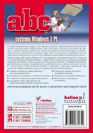 Tył okładki książki/ebooka ABC systemu Windows 7 PL