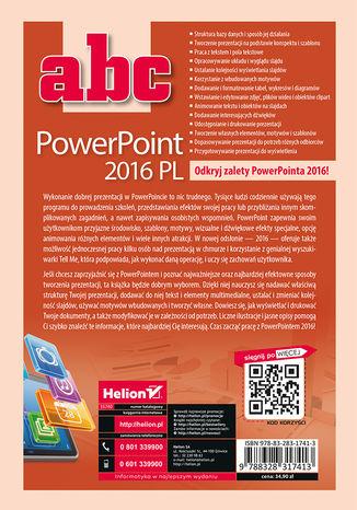 Tył okładki książki/ebooka ABC PowerPoint 2016 PL