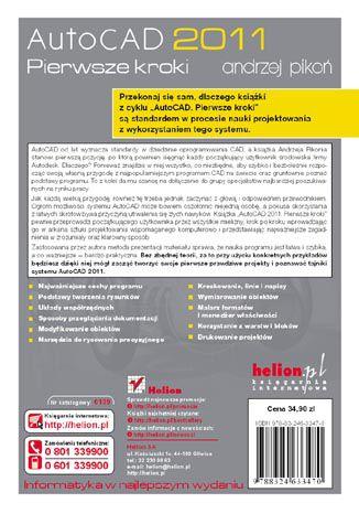 Tył okładki książki/ebooka AutoCAD 2011. Pierwsze kroki