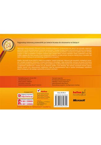 Tył okładki książki/ebooka Microsoft Access 2010 PL. Praktyczne podejście