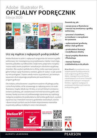 Tył okładki książki/ebooka Adobe Illustrator PL. Oficjalny podręcznik. Edycja 2020