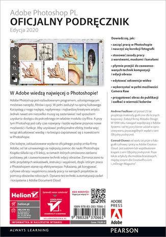 Tył okładki książki/ebooka Adobe Photoshop PL. Oficjalny podręcznik. Edycja 2020