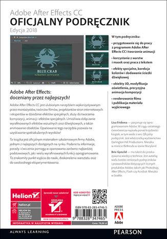 Tył okładki książki/ebooka Adobe After Effects CC. Oficjalny podręcznik. Wydanie II