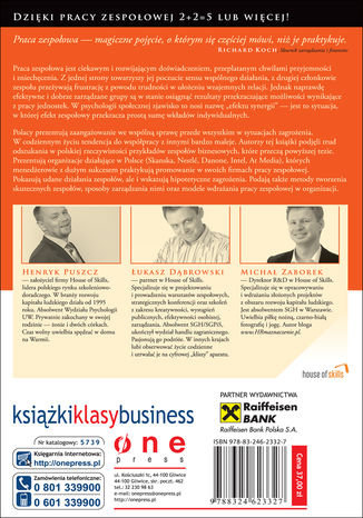 Tył okładki książki/ebooka Zespoły po polsku. Jak firmy działające na polskim rynku podnoszą swoją efektywność dzięki pracy zespołowej