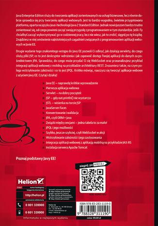 Tył okładki książki Java EE 6. Programowanie aplikacji WWW. Wydanie II