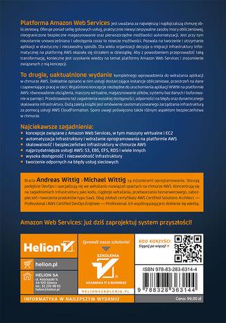 Tył okładki książki/ebooka Amazon Web Services w akcji. Wydanie II