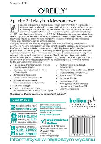 Tył okładki książki/ebooka Apache 2. Leksykon kieszonkowy