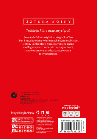 Tył okładki książki/ebooka Sztuka wojny (Wydanie ekskluzywne + Audiobook mp3)