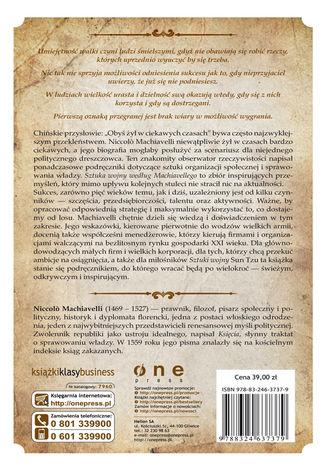 Tył okładki książki/ebooka Sztuka wojny według Machiavellego