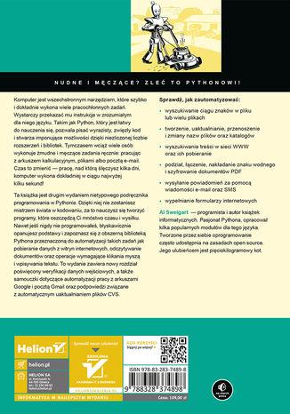 Tył okładki książki/ebooka Automatyzacja nudnych zadań z Pythonem. Nauka programowania. Wydanie II