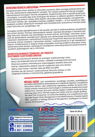 Tył okładki książki Zarządzanie łańcuchem dostaw. Podstawy. Wydanie II
