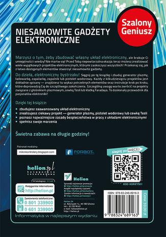 Tył okładki książki Niesamowite gadżety elektroniczne. Szalony Geniusz. Wydanie II