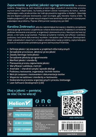 Okładka książki Jakość projektów informatycznych. Rozwój i testowanie oprogramowania