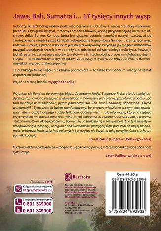 Tył okładki książki/ebooka Archipelag znikających wysp