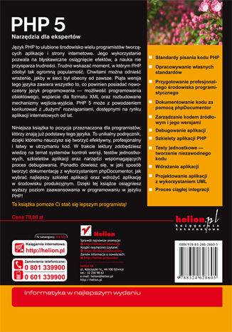 Tył okładki książki/ebooka PHP 5. Narzędzia dla ekspertów