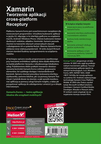 Tył okładki książki/ebooka Xamarin. Tworzenie aplikacji cross-platform. Receptury