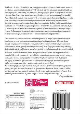 Tył okładki książki/ebooka Sen powrotu