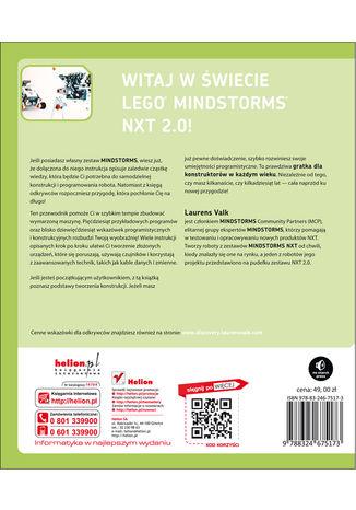 Tył okładki książki Księga odkrywców LEGO Mindstorms NXT 2.0. Podstawy budowy i programowania robotów