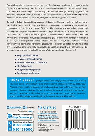 Tył okładki książki/ebooka Naturalna pewność siebie. Siła, która zmieni Twoje życie