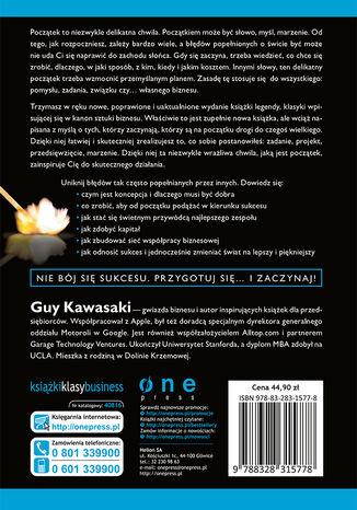 Tył okładki książki/ebooka Sztuka rozpoczynania 2.0