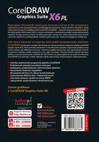Tył okładki książki/ebooka CorelDRAW Graphics Suite X6 PL