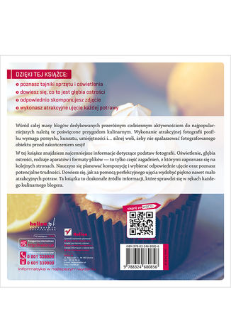 Tył okładki książki Fotografia kulinarna dla blogerów