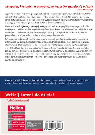 Tył okładki książki/ebooka Informatyka Europejczyka. Podręcznik dla szkół ponadgimnazjalnych. Zakres podstawowy (Wydanie II)