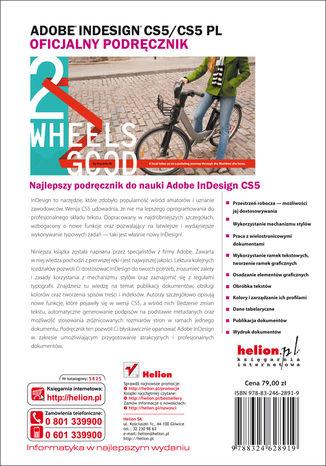 Tył okładki książki/ebooka Adobe InDesign CS5/CS5 PL. Oficjalny podręcznik