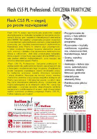 Tył okładki książki/ebooka Flash CS5 PL Professional. Ćwiczenia praktyczne