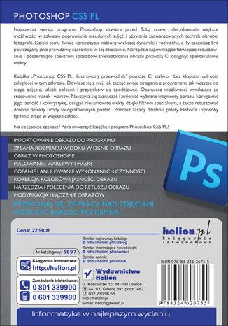 Tył okładki książki/ebooka Photoshop CS5 PL. Ilustrowany przewodnik
