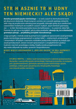 Tył okładki książki/ebooka Banalna gramatyka języka niemieckiego