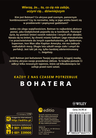Tył okładki książki/ebooka Batman i filozofia. Mroczny rycerz nareszcie bez maski