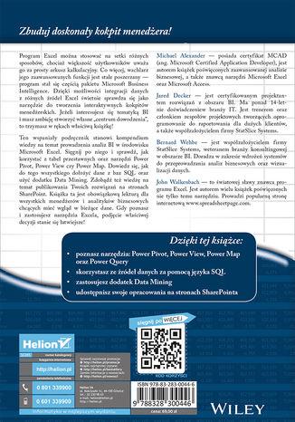 Okładka książki Analizy Business Intelligence. Zaawansowane wykorzystanie Excela