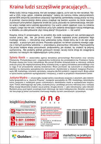 Tył okładki książki/ebooka Praca wymarzona. Jak ją skutecznie znaleźć