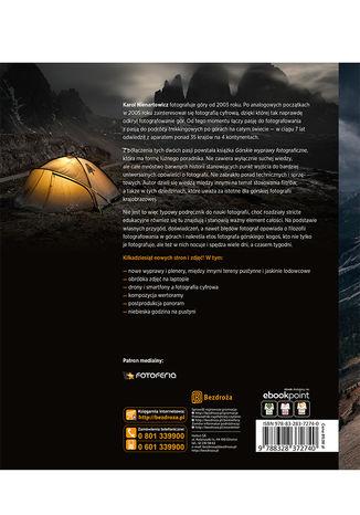 Tył okładki książki/ebooka Górskie wyprawy fotograficzne. Wydanie II poszerzone