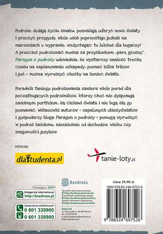 Tył okładki książki/ebooka Paragon z podróży. Poradnik taniego podróżowania. Wydanie 2