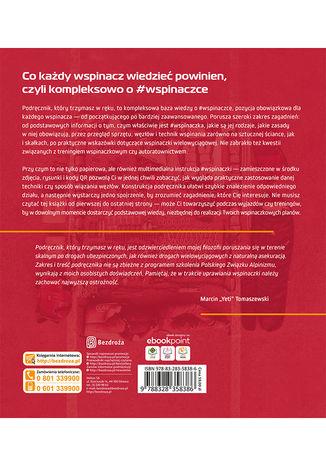 Tył okładki książki/ebooka #wspinaczka. Podręcznik dla początkujących i średnio zaawansowanych