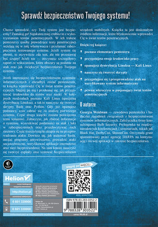 Tył okładki książki/ebooka Bezpieczny system w praktyce. Wyższa szkoła hackingu i testy penetracyjne