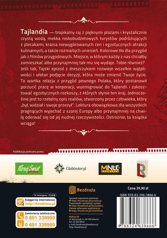 Tył okładki książki/ebooka Tajski epizod z dreszczykiem