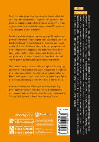 Tył okładki książki/ebooka Trekking & Hiking. Alpy t.1. Alpy Wschodnie