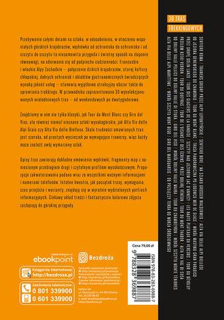 Tył okładki książki/ebooka Trekking & Hiking. Alpy t.3. Alpy Zachodnie
