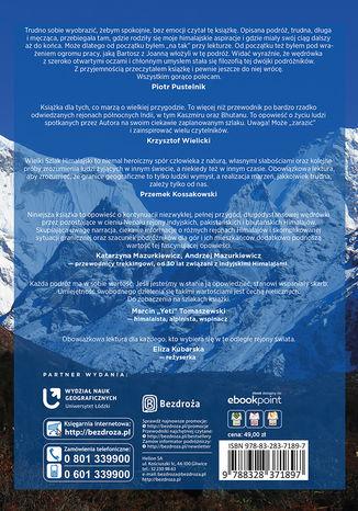 Tył okładki książki/ebooka Wielki Szlak Himalajski. Indie, Pakistan, Bhutan