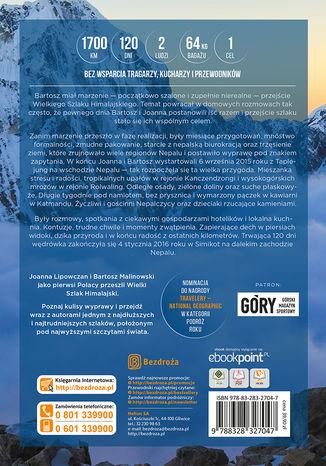 Tył okładki książki/ebooka Wielki Szlak Himalajski. 120 dni pieszej wędrówki przez Nepal