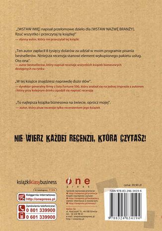 Tył okładki książki/ebooka BezMarketing. Przestań kusić klientów, zacznij z nimi rozmawiać!