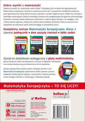 Tył okładki książki/ebooka Matematyka Europejczyka. Podręcznik dla gimnazjum. Klasa 1
